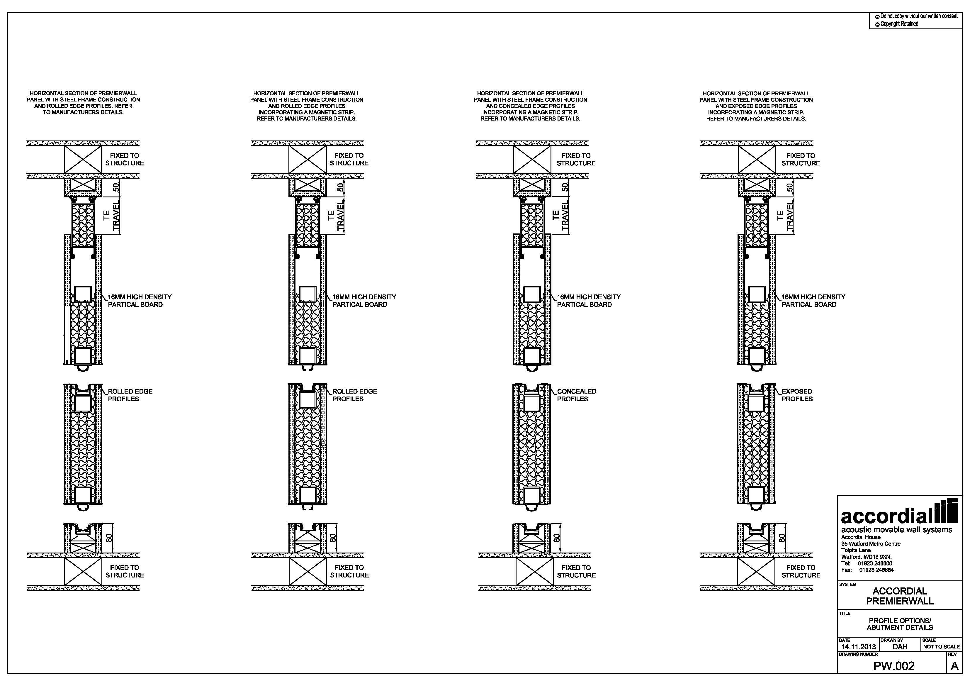 Aluminium Glass Partition Details Dwg